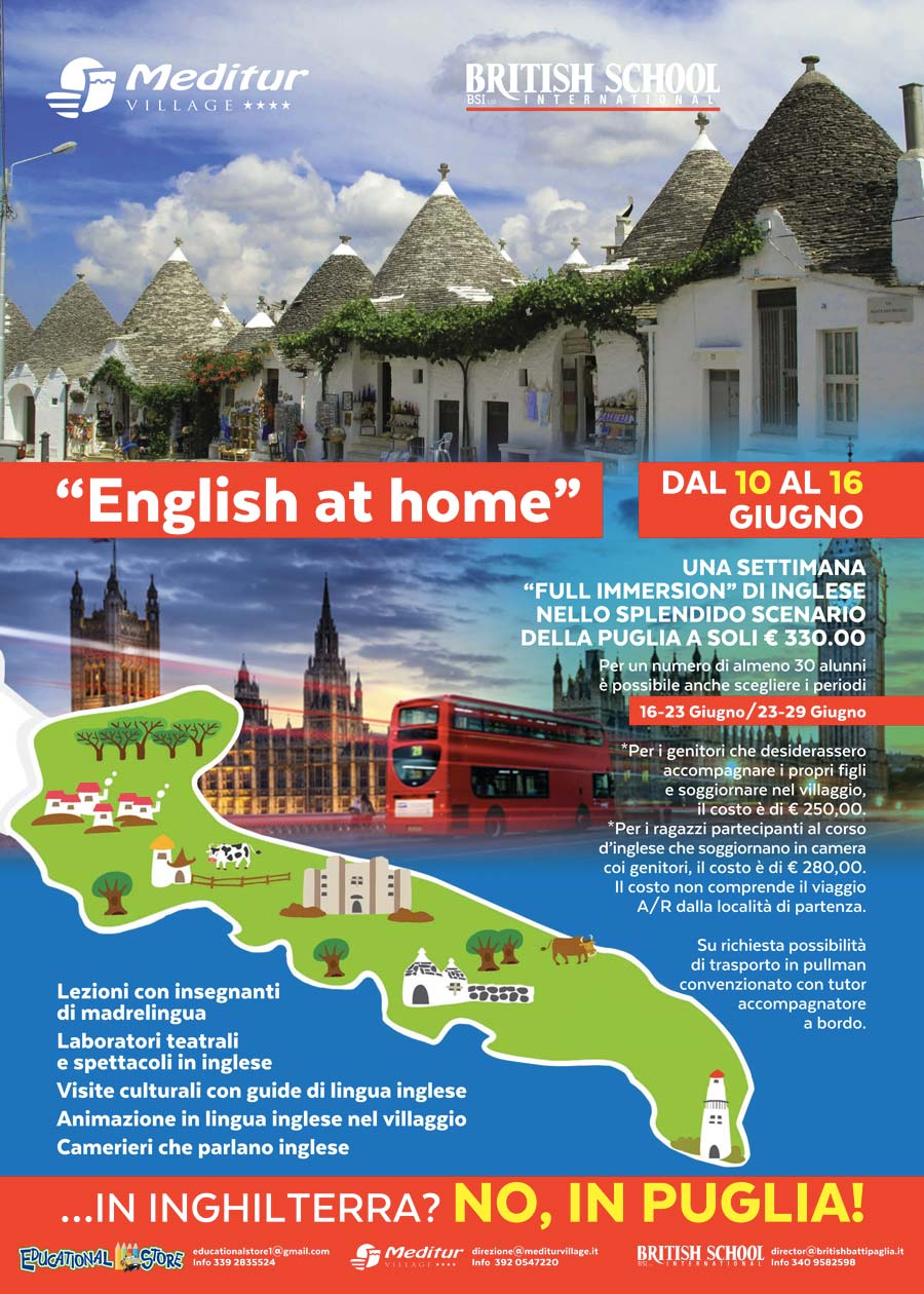 english at home per l'estate 2018